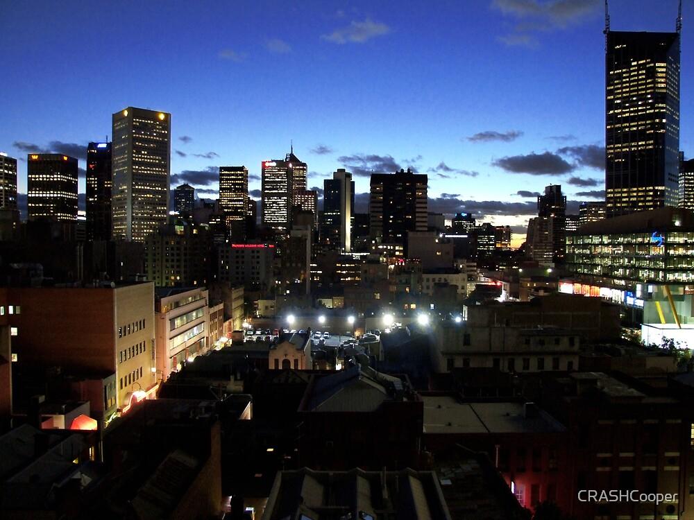 Melbourne Cityscape by CRASHCooper