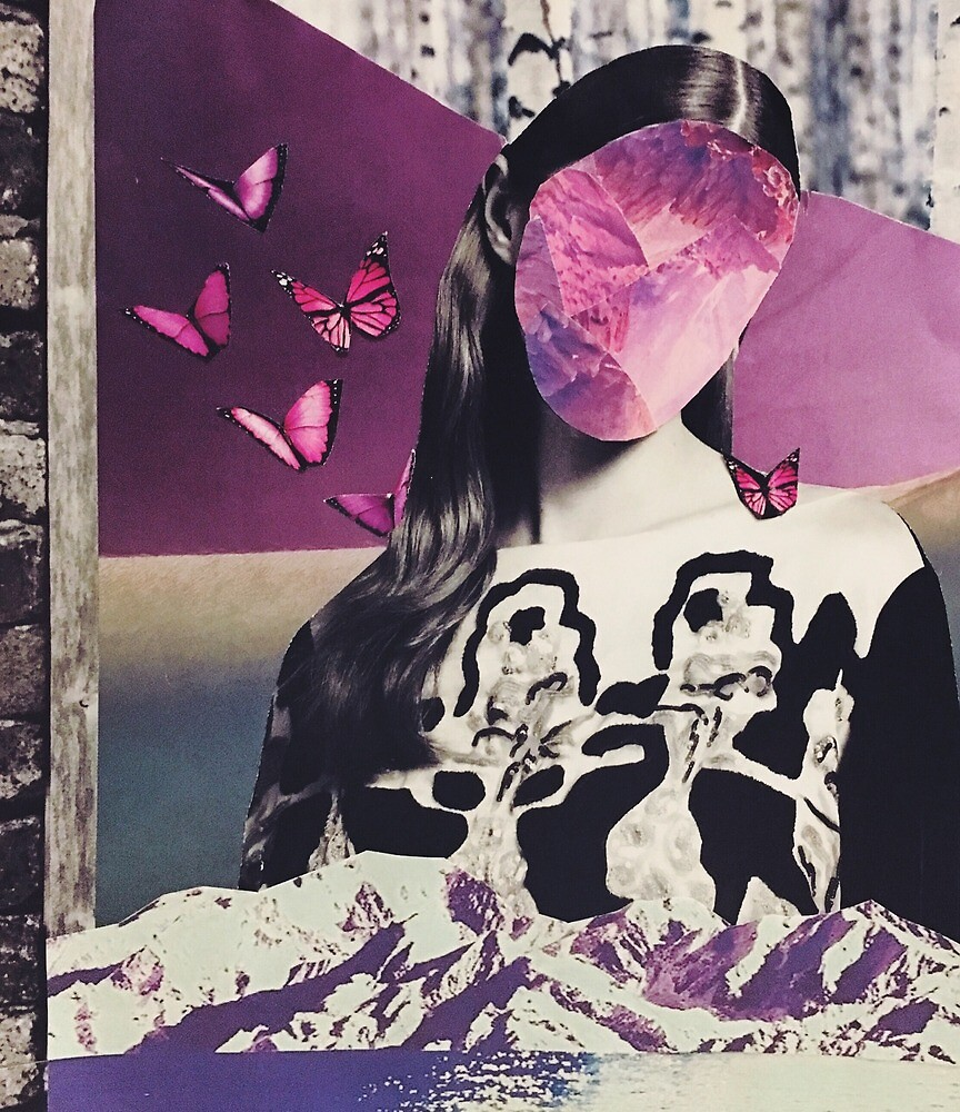 Surreal Butterfly Collage by amyflorenceart