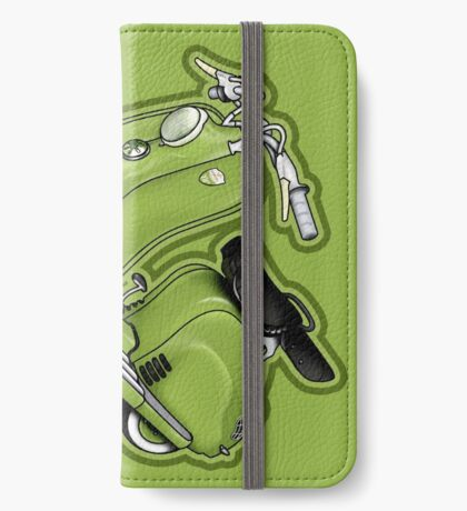 Scooter T-shirts Art: LD 150 - 1955 vintage scooter illustration iPhone Wallet