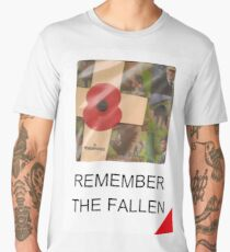 Remember The Fallen - Of WW1, WW2 and all other conflicts Men's Premium T-Shirt