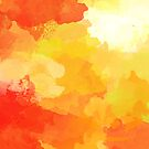 Colorful Abstract - red orange pattern by floartstudio