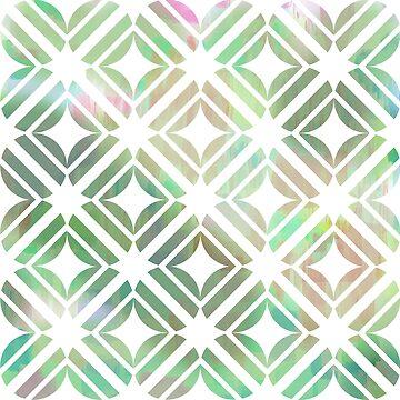 Tiles over tulips go tourmaline by PlacewearDesign