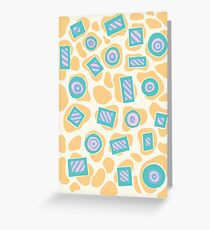 Blogs and Stripes Greeting Card