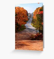 Two Country Roads Greeting Card