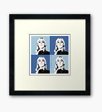 Kim Warhol Blue Framed Print