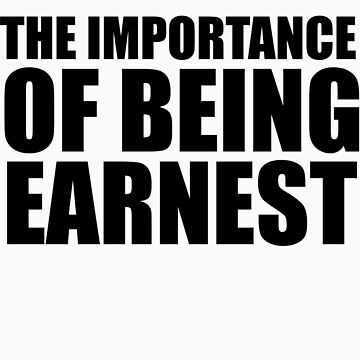 The Importance of Being Earnest by oscarwilde