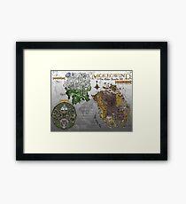 Morrowind, Elder Scrolls, 3 Islands Map, Poster Restoration Framed Print