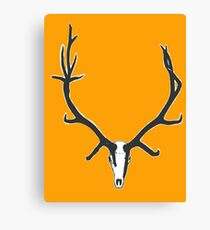 Monster bull elk skull Canvas Print