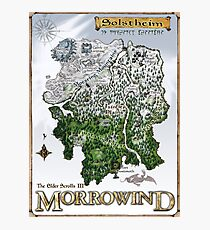Solstheim a Morrowind Island Map, Restoration Project  Photographic Print