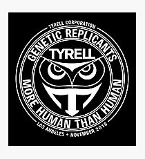 Tyrell Corporation - White Variant Photographic Print