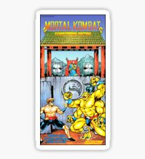 Mortal Kombat, Restored Vintage Nintendo Power Poster Sticker