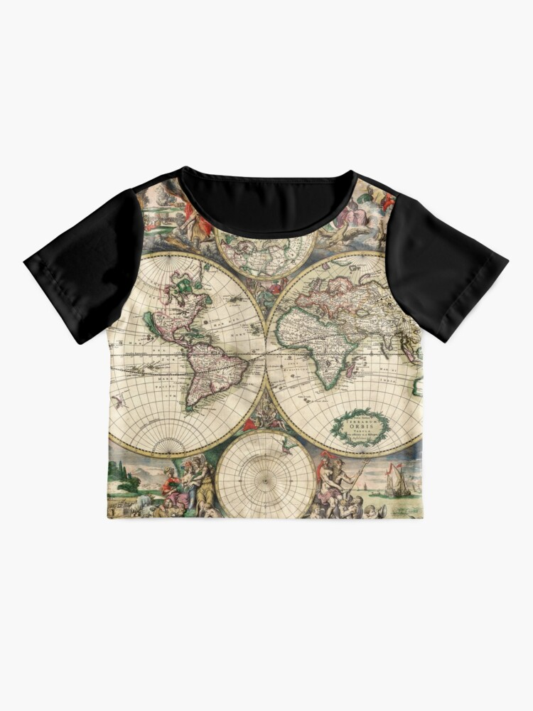 Alternate view of Vintage Maps Of The World 1689 Chiffon Top