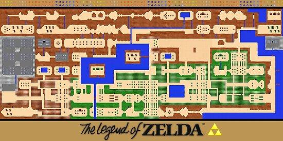 Die Legende von Zelda Map Poster - Retro, NES, beliebte ...
