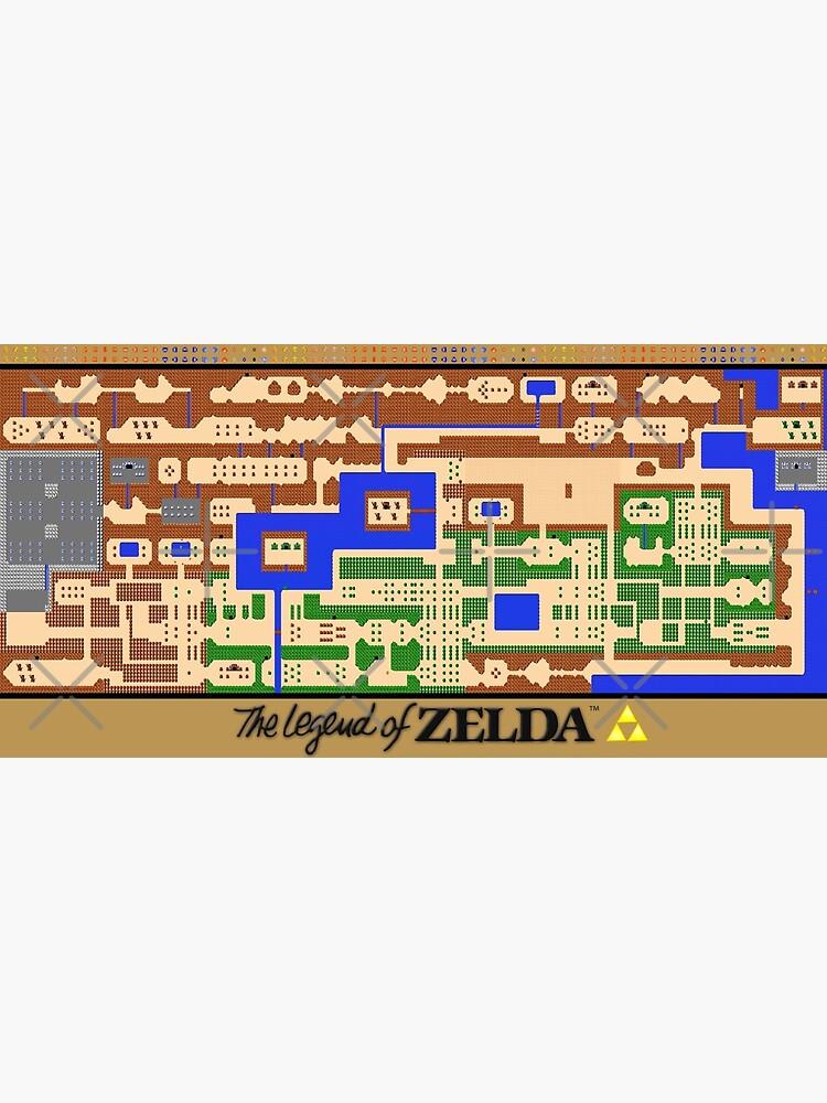 Legend Of Zelda Map Poster Retro Nes Popular Restoration Greeting Card