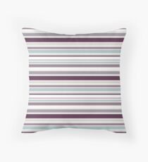 Purple and Duck Egg Blue Stripes Throw Pillow