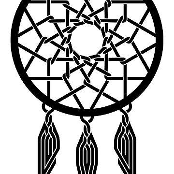 Celtic Dreamcatcher Black by Thel0n