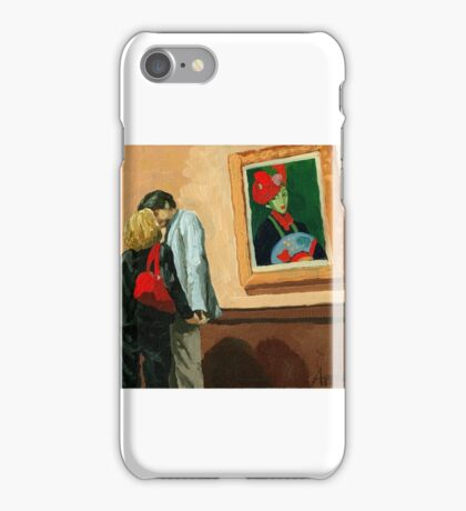 Under Watchful Eyes -  oil painting iPhone Case/Skin