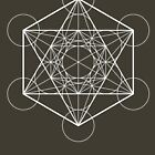 Metatron's Cube (dark background) by hexagrahamaton