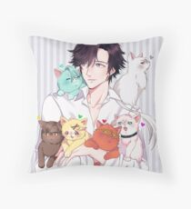 cat daddy jumin Throw Pillow