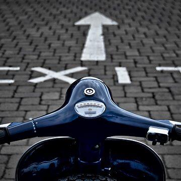Exit Blue Vespa by redstar5