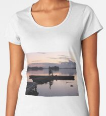 Sunset over a lake Women's Premium T-Shirt