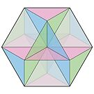 Cuboctahedron of Intersecting Hexagonal Planes by hexagrahamaton
