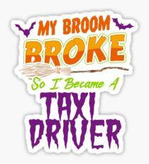Taxi driver Haloween funnyshirt Sticker