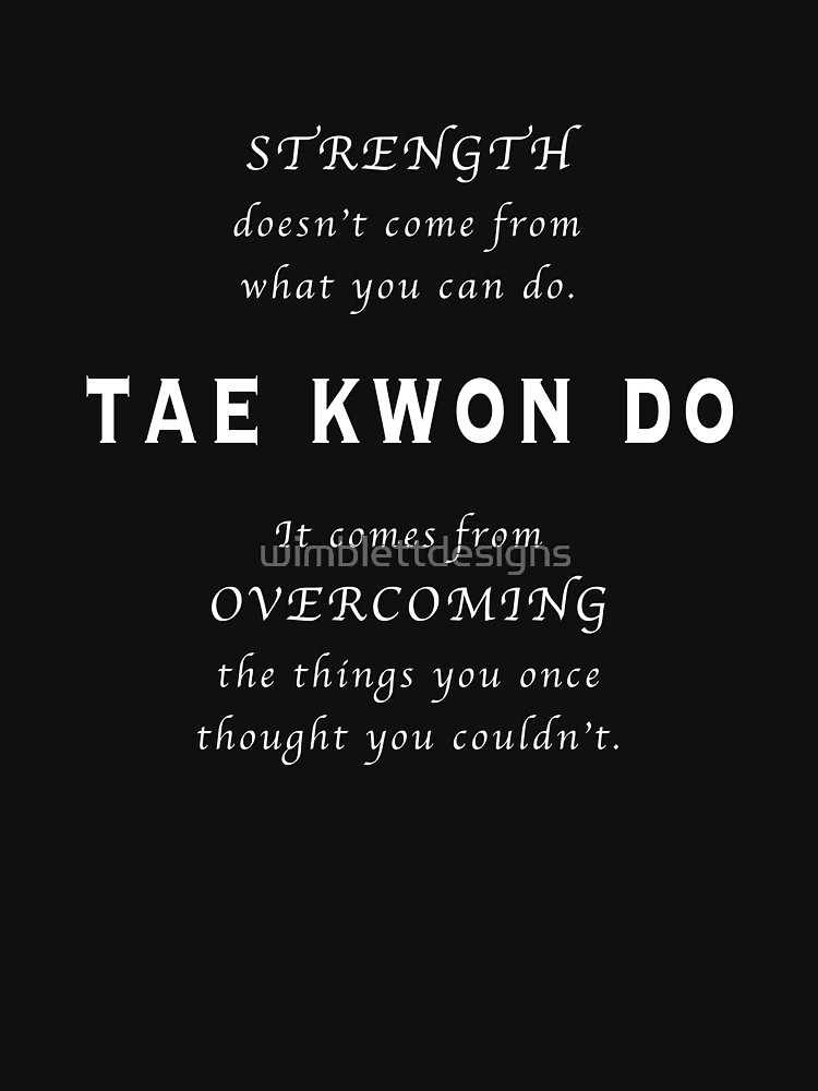 Cita Inspirada de Tae Kwon Do de wimblettdesigns