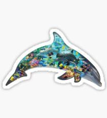 Dolphin-förmig Sticker