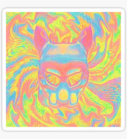 Abstract Mask Sticker
