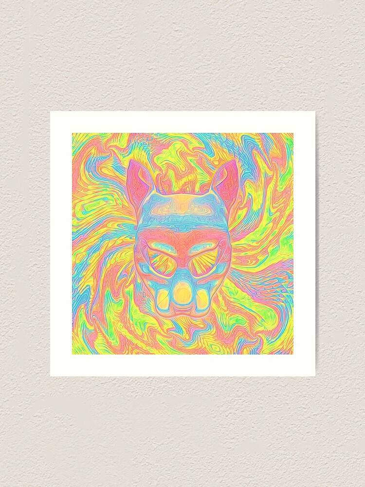 Alternate view of Abstract Mask Art Print