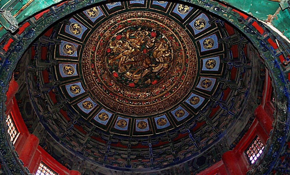 Inside dome Forbidden City by Ted  van Eck