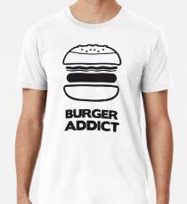BURGER SÜCHTIGER Männer Premium T-Shirts