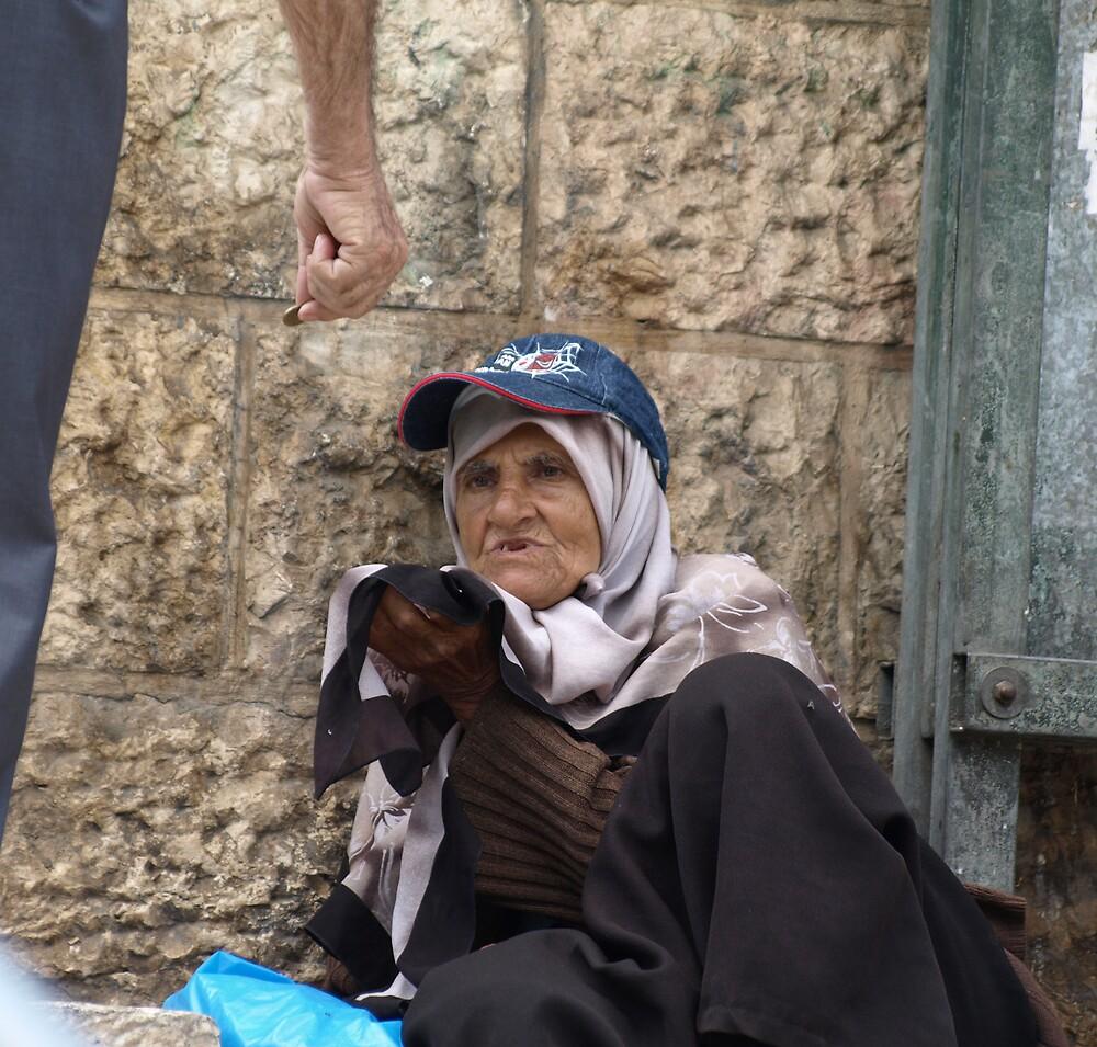 Beggar at Damascus gate by MichaelBr
