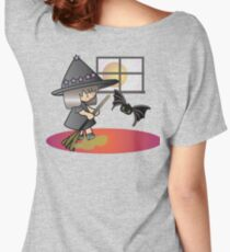 Cellya witch cleaning with baby bat Women's Relaxed Fit T-Shirt