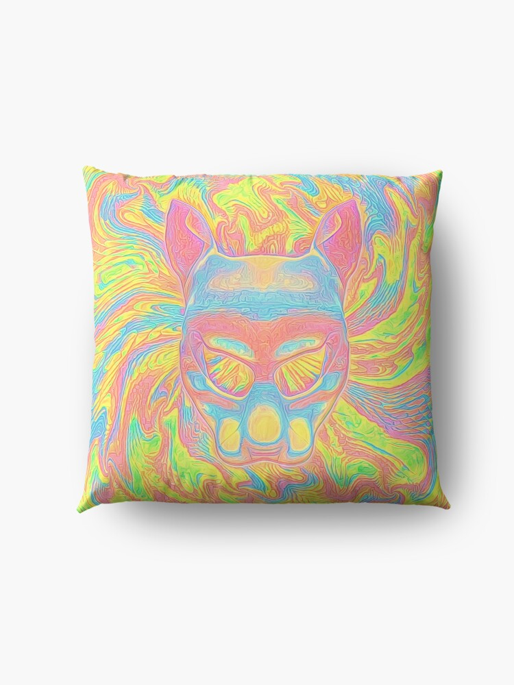 Alternate view of Abstract Mask Floor Pillow