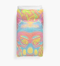 Abstract Mask Duvet Cover
