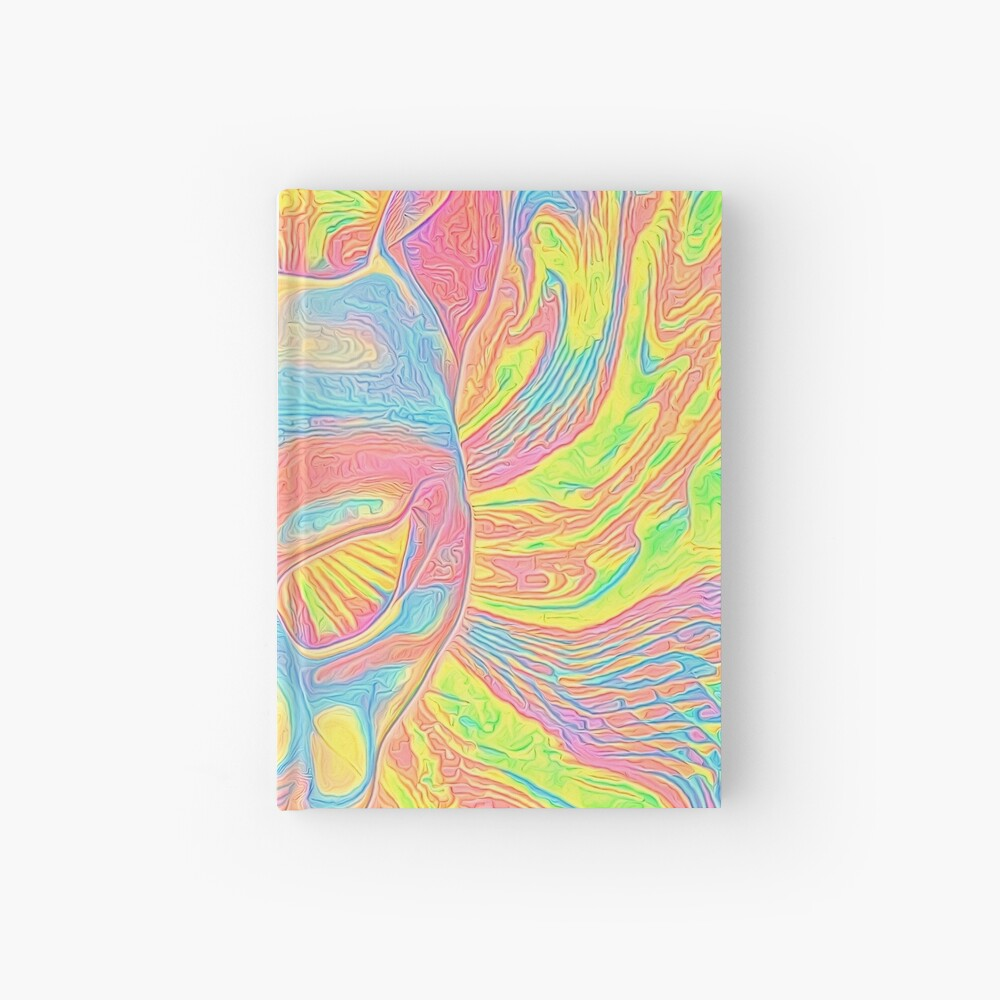 Abstract Mask Hardcover Journal
