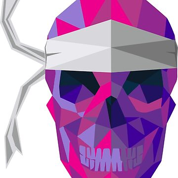 motif Skull polygonal Corsica by william2a