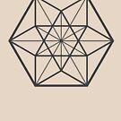 Centered Cuboctahedron (light background) by hexagrahamaton