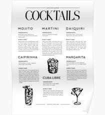Cocktail Rezepte Poster