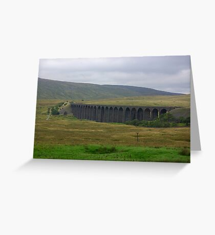 Another View of The Ribblehead Viaduct Greeting Card
