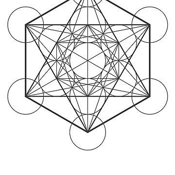 Metatron's Cube (light background) by hexagrahamaton