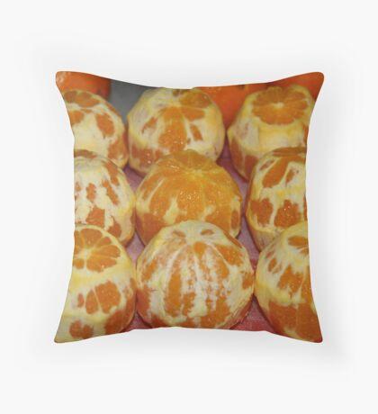 Naked Oranges Throw Pillow