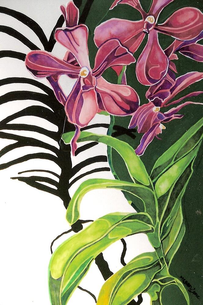 Purple Orchids by Megan Lane