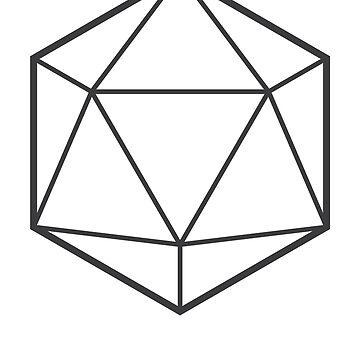 Opaque Icosahedron (light background) by hexagrahamaton