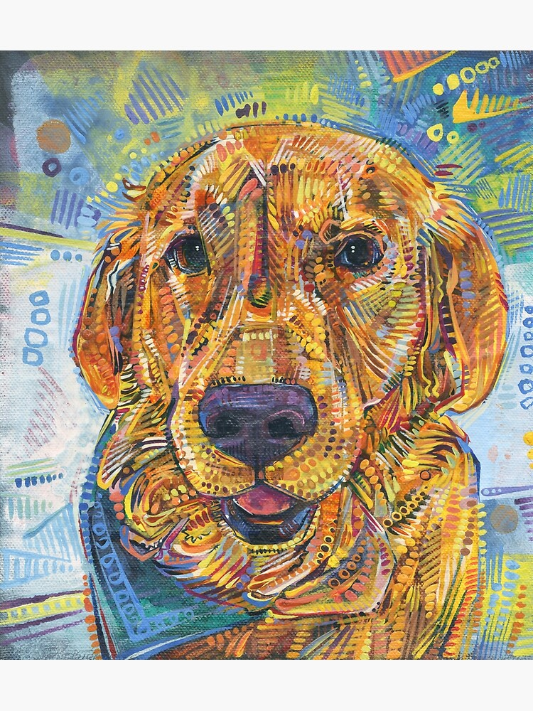 Golden retriever painting - 2016 by gwennpaints