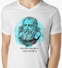 Galileo Galilei - Science Portrait - Reason Must Step In T-Shirt