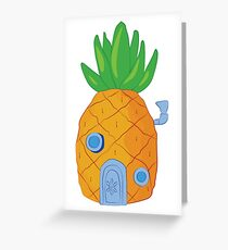 Spongebob Pineapple Greeting Card