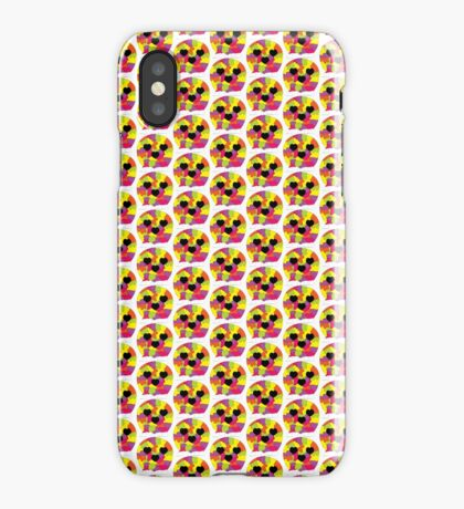 Rainbow Puzzle Pieces Skull Hearts iPhone Case/Skin